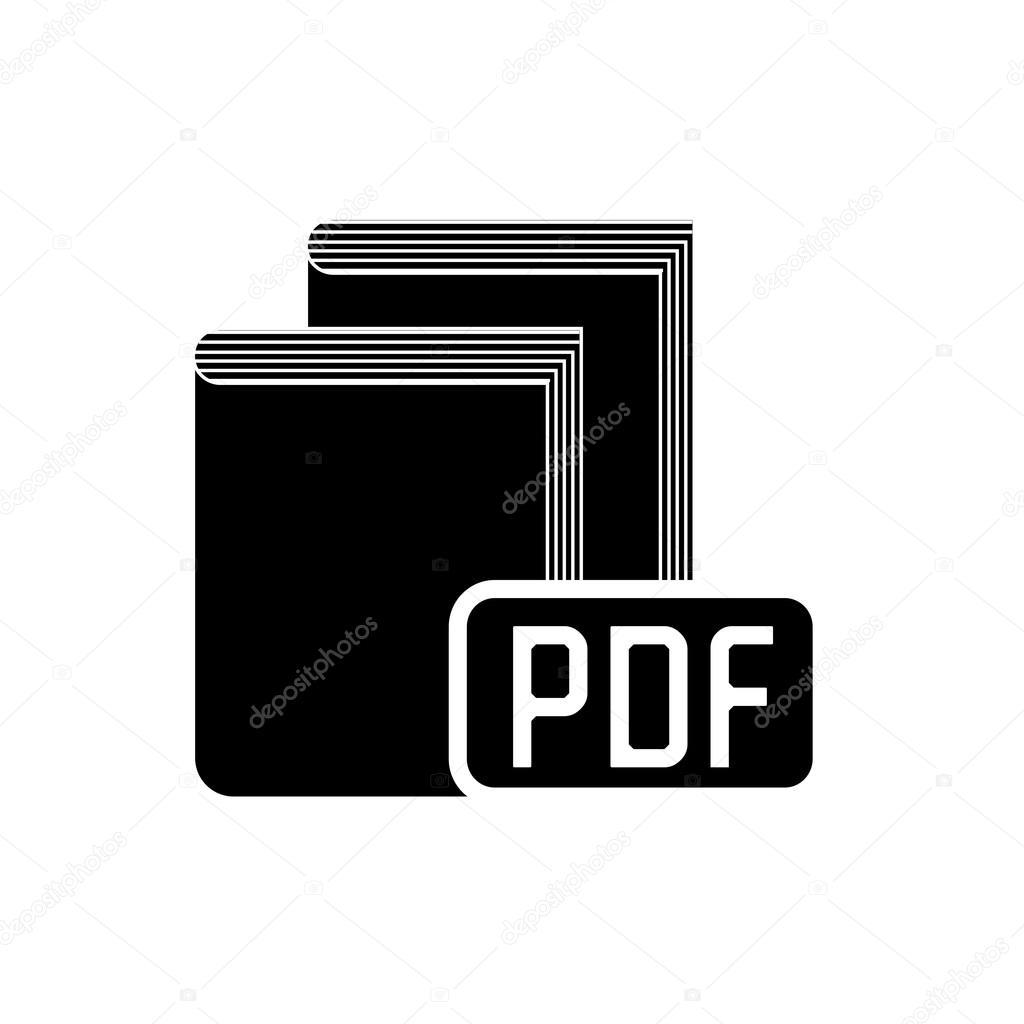 book pdf format icon stock vector yupiramos 123225172