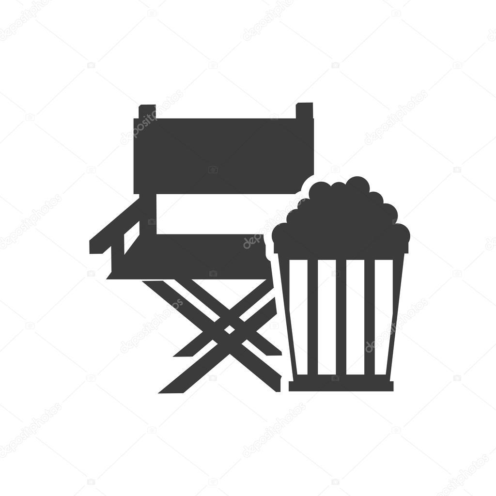 Chaise de r alisateur cin matographique avec l ic ne du for Chaise de realisateur