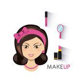 Make-up setzen flache Symbole
