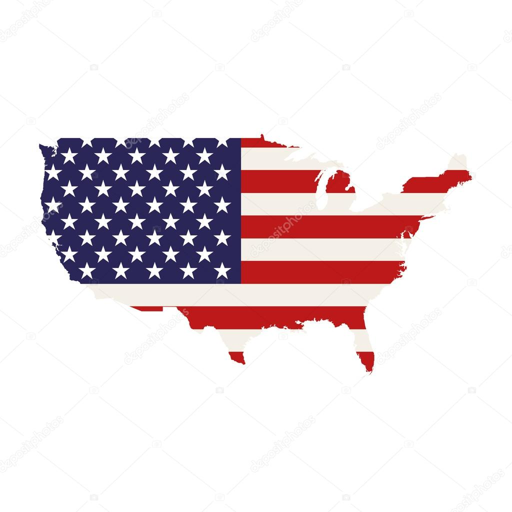 Usa Country Map Stock Vector 123745508