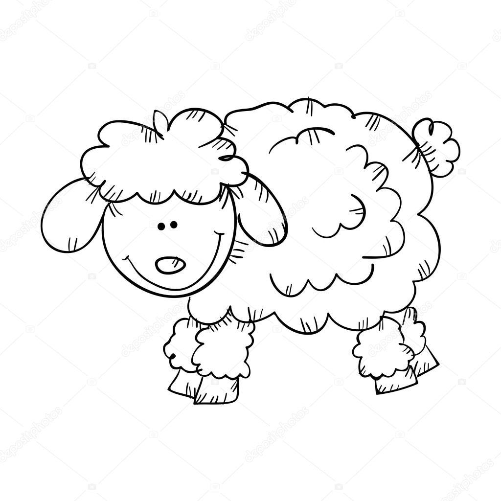 Cara De Oveja Para Colorear Diseño Dibujado Animales Oveja