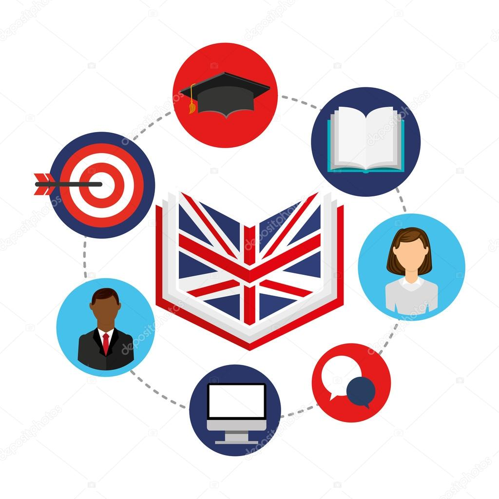 learn english education icons � stock vector 169 yupiramos