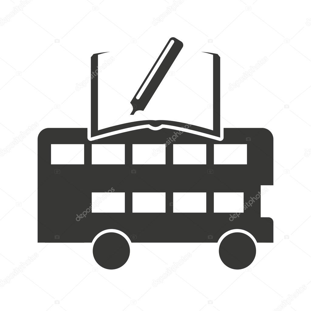 London-Bus mit dem Symbol lernen — Stockvektor © yupiramos #124117638