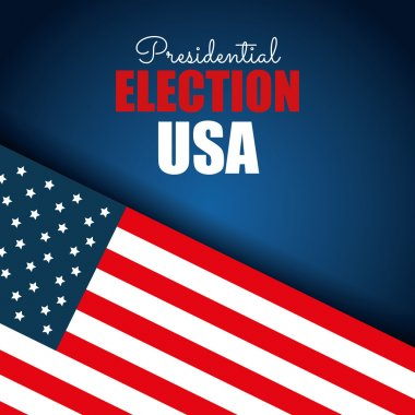 flag usa election presidential blue background graphic
