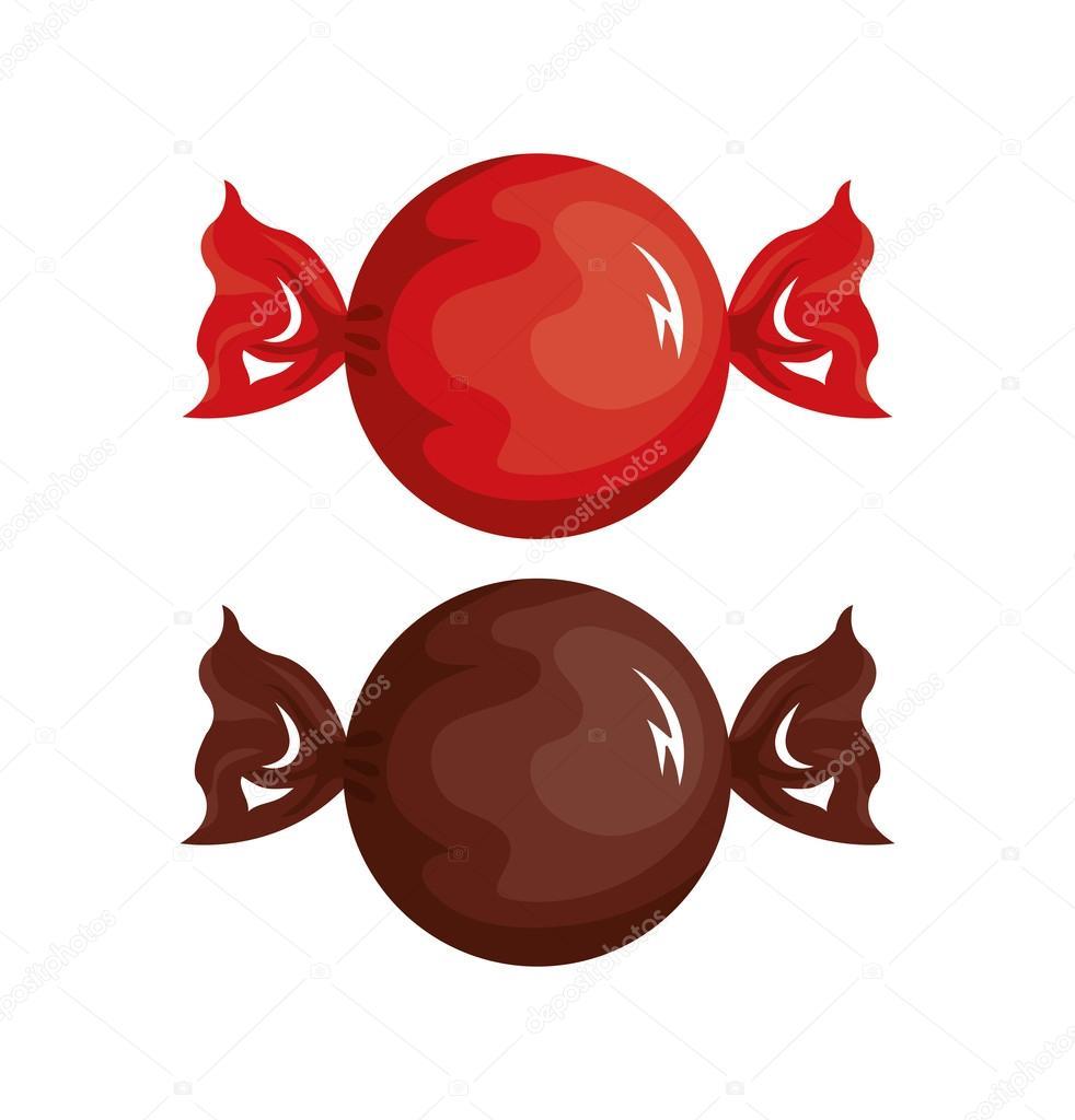 Dessin anim bonbons dessin rouge et chocolat image vectorielle yupiramos 124583152 - Bonbon en dessin ...