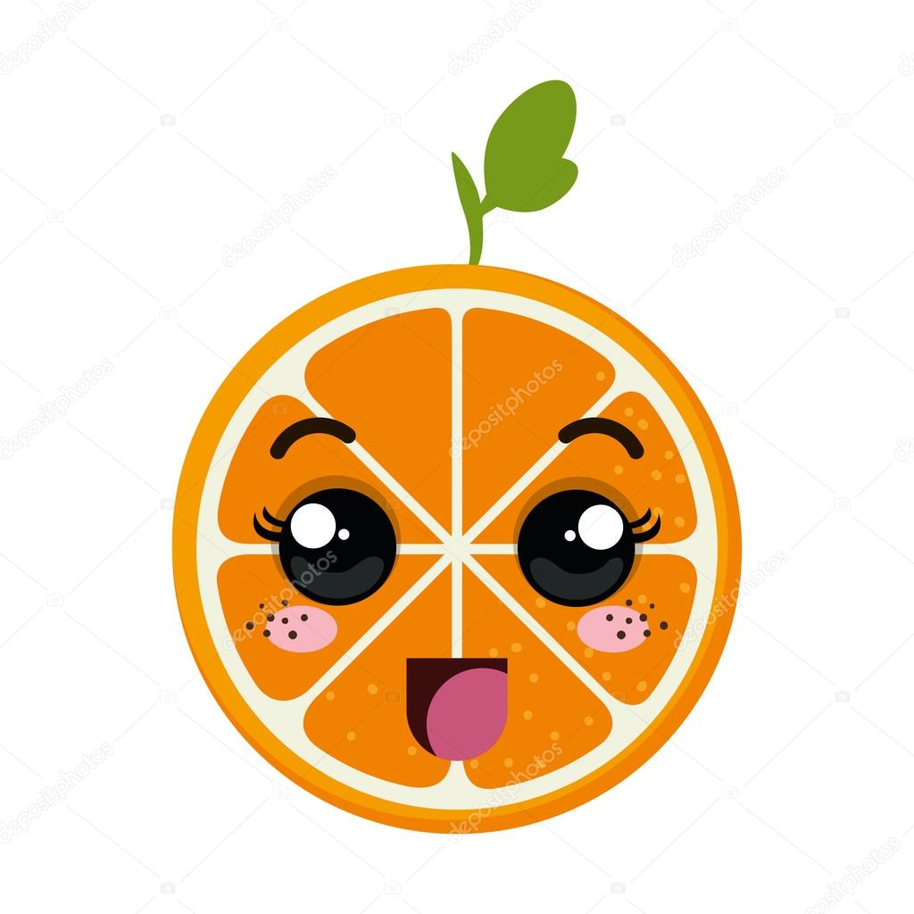 Dessin anim kawaii orange image vectorielle yupiramos - Orange dessin ...