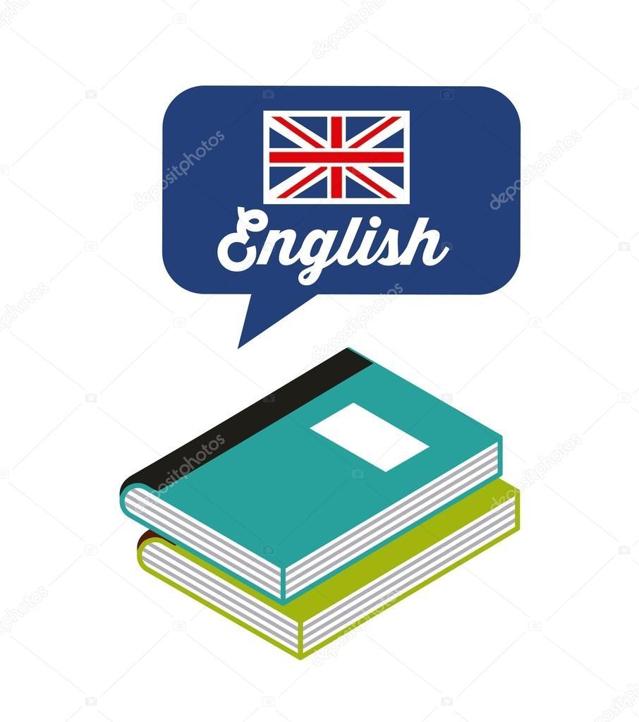 Lernen Sie englische Studie Symbol — Stockvektor © yupiramos #124673344