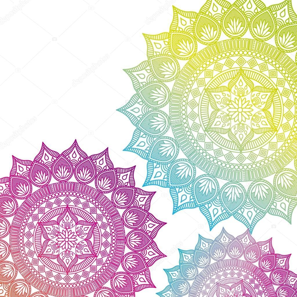 mandala india culture icon
