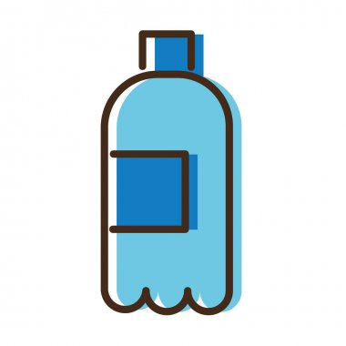 Water bottle drink line and fill style icon vector illustration design icon