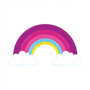 Beautiful pink rainbow feminist icon vector illustration design icon