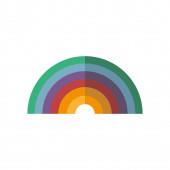 rainbow icon isolated vector design