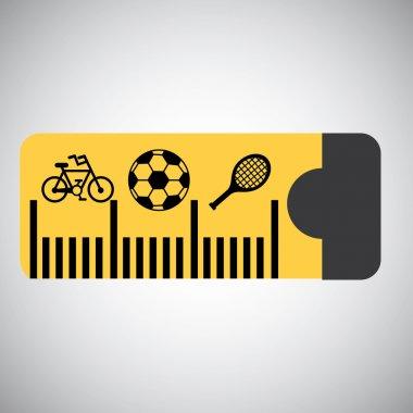 Tape measure graphic design , vector illustration clip art vector