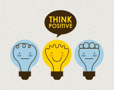 Think positive graphic design , vector illustration stock vector