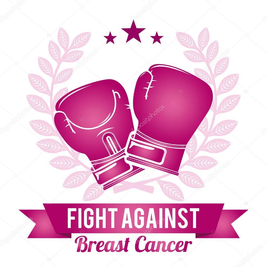 Breast cancer graphic design , vector illustration stock vector