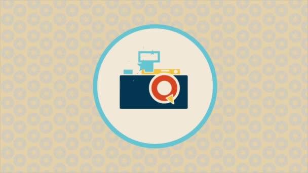 Starý fotoaparát animace