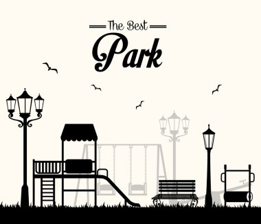 Park design over white background vector illustration