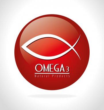 Omega design, vector illustration.