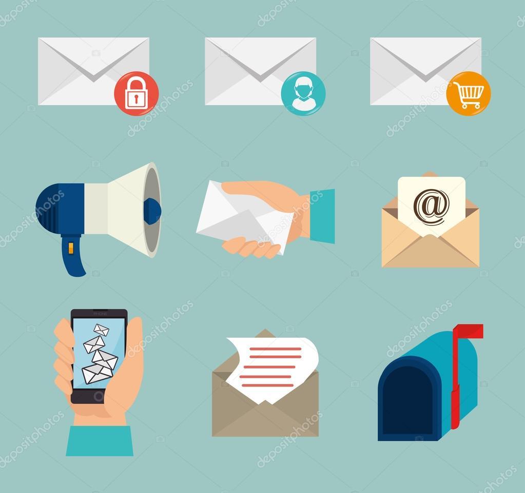 Email design, vector illustration.