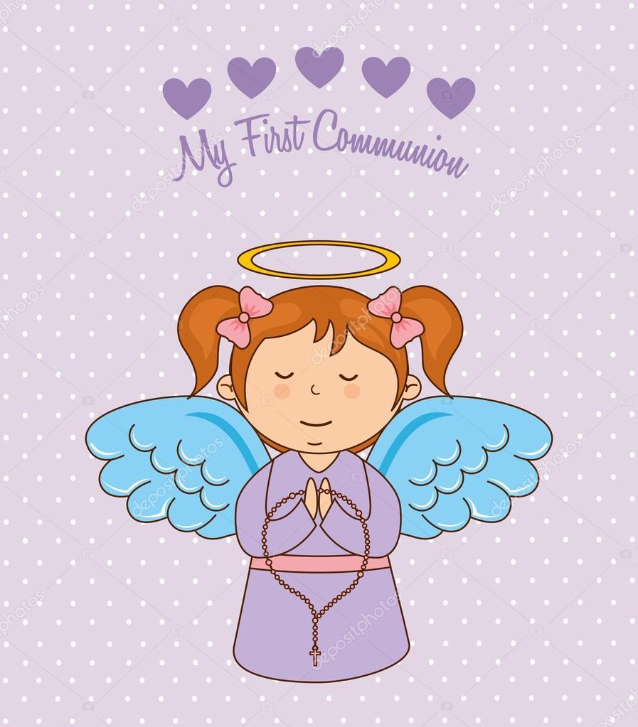 Ma Première Communion Image Vectorielle Yupiramos 64334043
