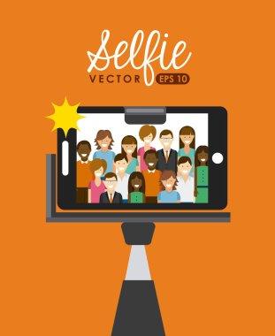 Selfie concept design, vector illustration eps10 graphic stock vector
