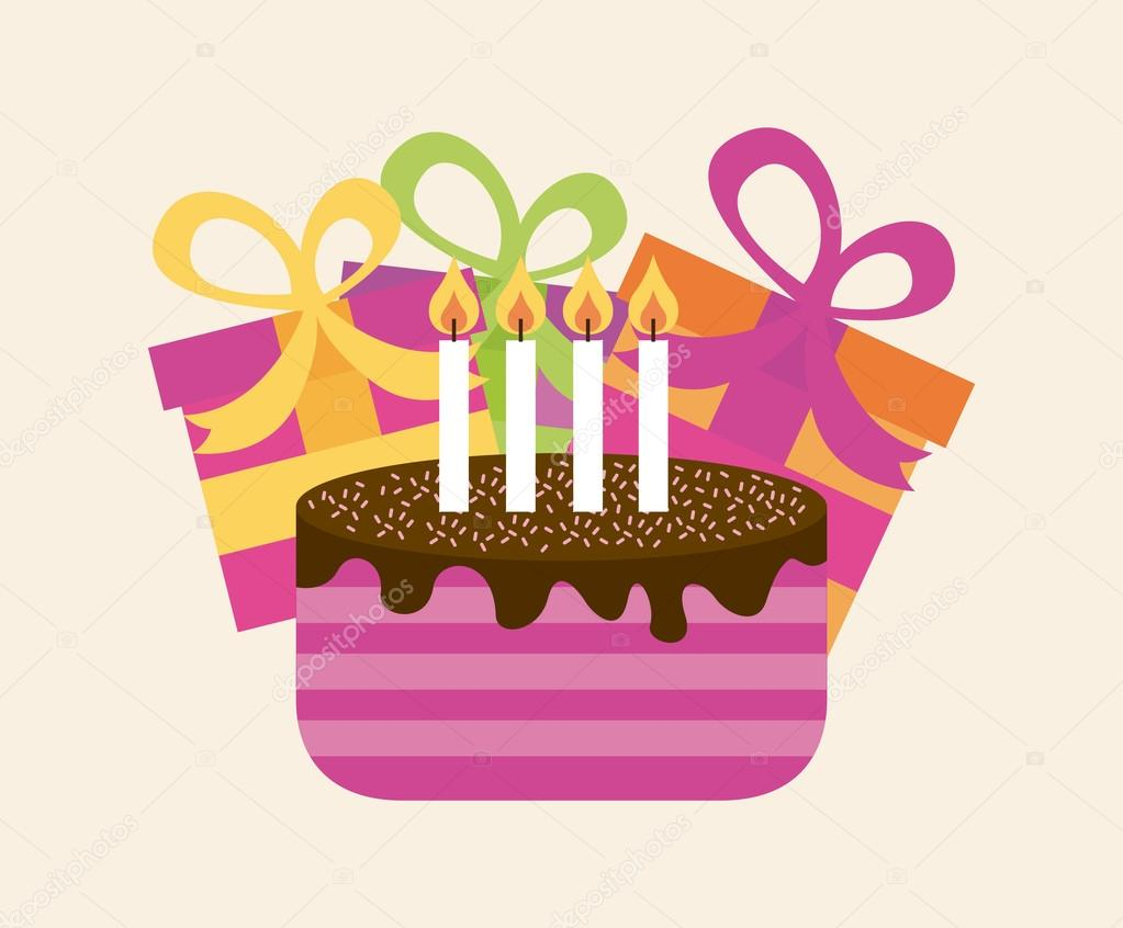 Happy Birthday Design Vector ~ Happy birthday design u2014 stock vector © yupiramos #65404669