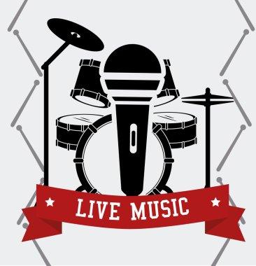 Music design, vector illustration.
