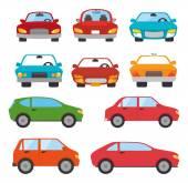 Půjčit auto design, vektorové ilustrace.