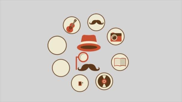 Icone di hipster, Video animazione