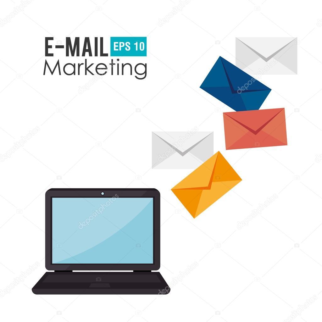 Email marketing design, vector illustration.