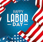 Fotografie Labor day card design, vector illustration.