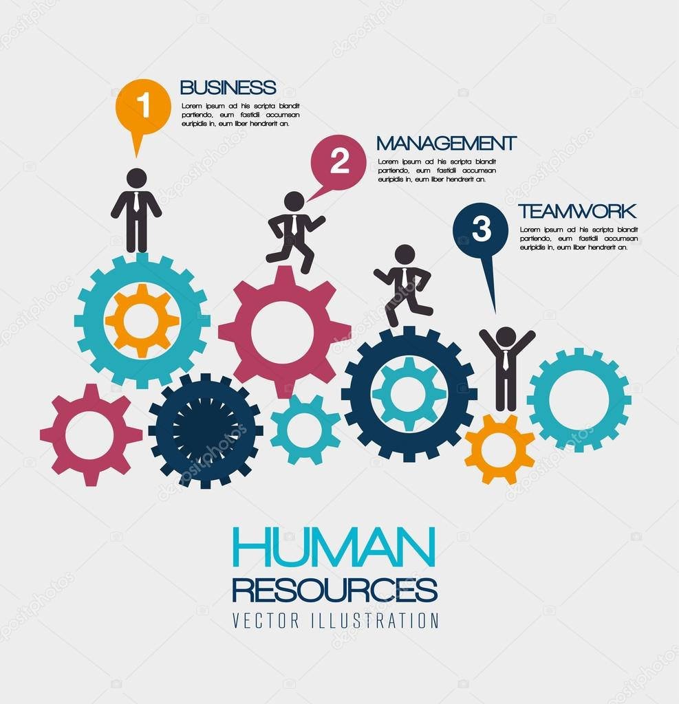 Human resources, vector illustration. — Stock Vector ...