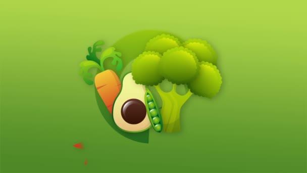 Zeleninu Video animace