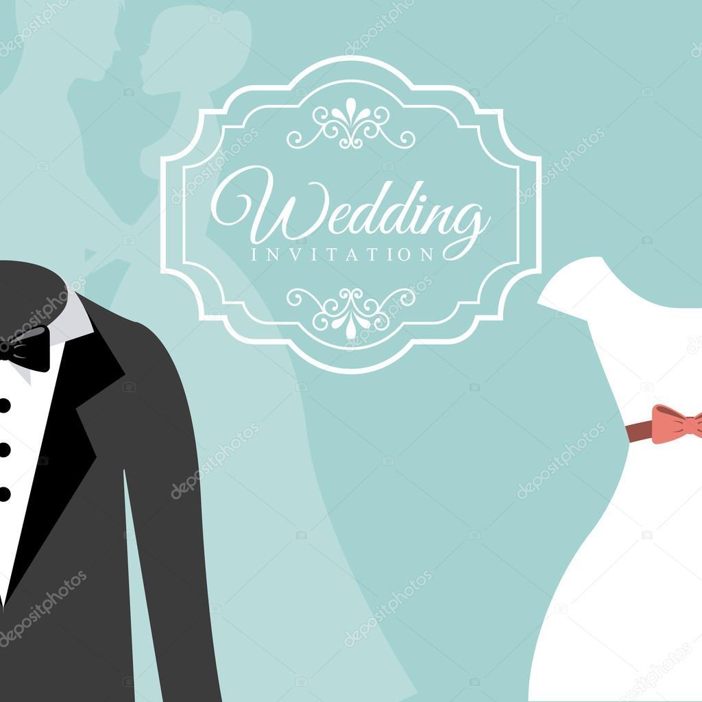 wedding invitation — Stock Vector © yupiramos #69550319