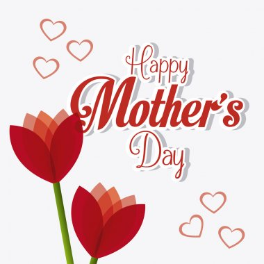 Happy mothers day card design, vector illustration. clip art vector