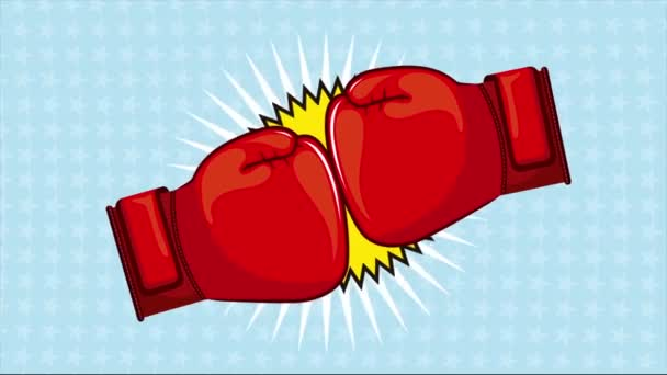 Boxing cartoon, Video animation