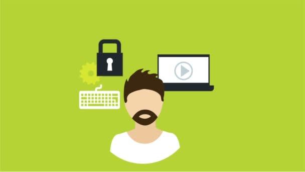 Technologie ikony Video animace