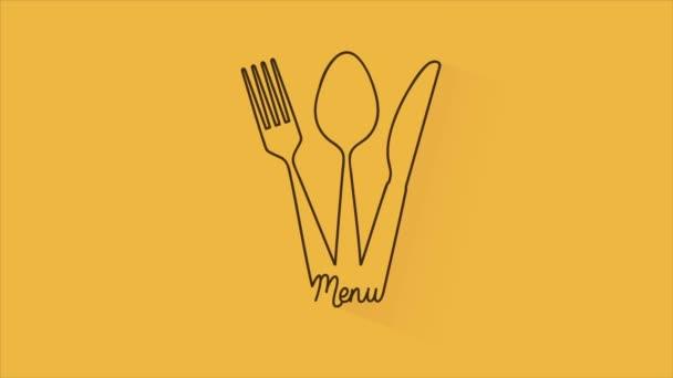 Příbory menu, Video animace