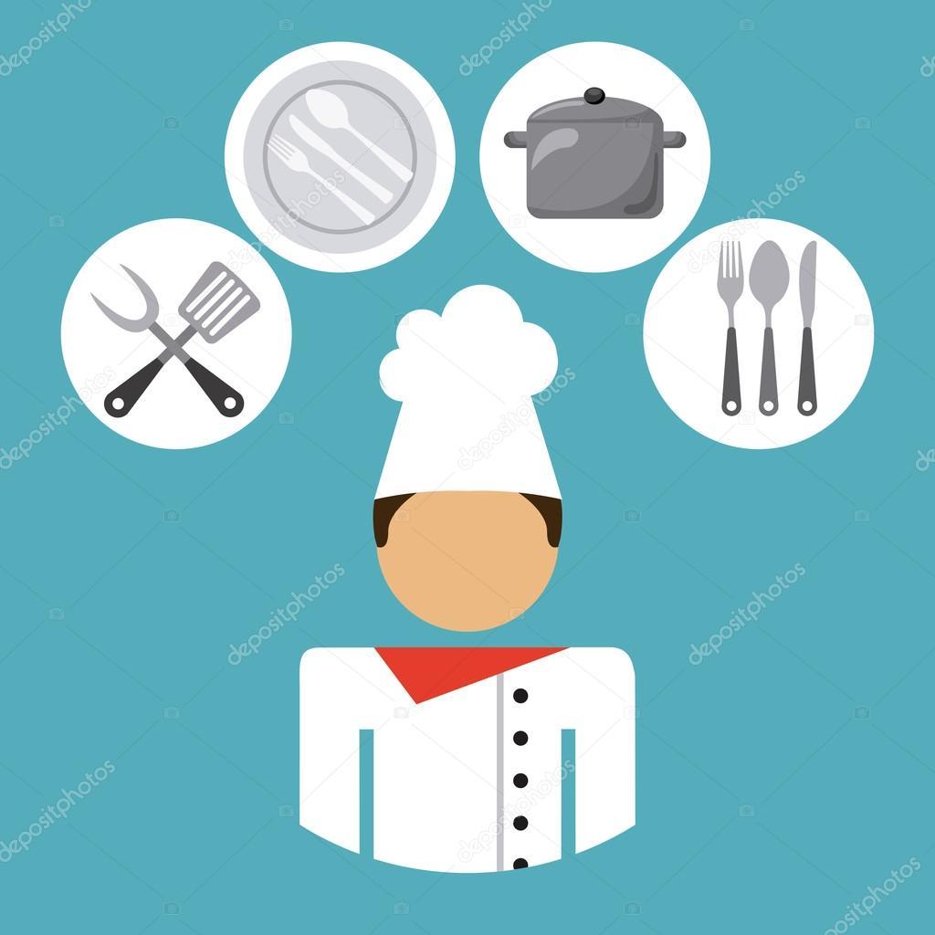 chef job — Stock Vector © yupiramos #71211475