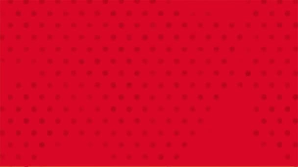 Red background, pop art Video animation