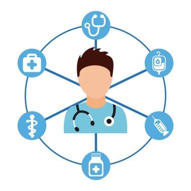 Medical care design, vector illustration eps10 graphic clip art vector