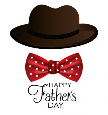 Happy fathers day card design, vector illustration. clip art vector