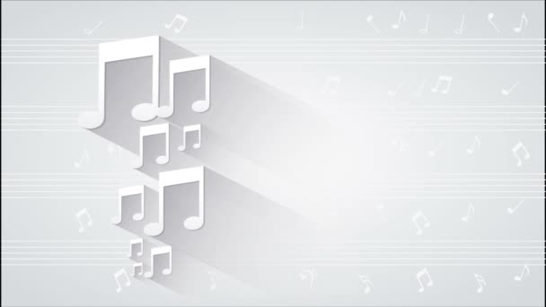 Zenei jegyzetek Video animation