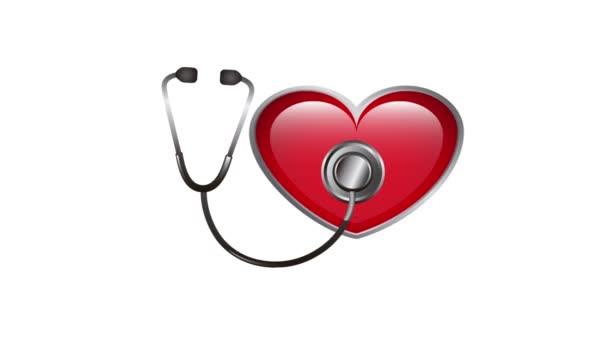 heart and stethoscope, Video animation
