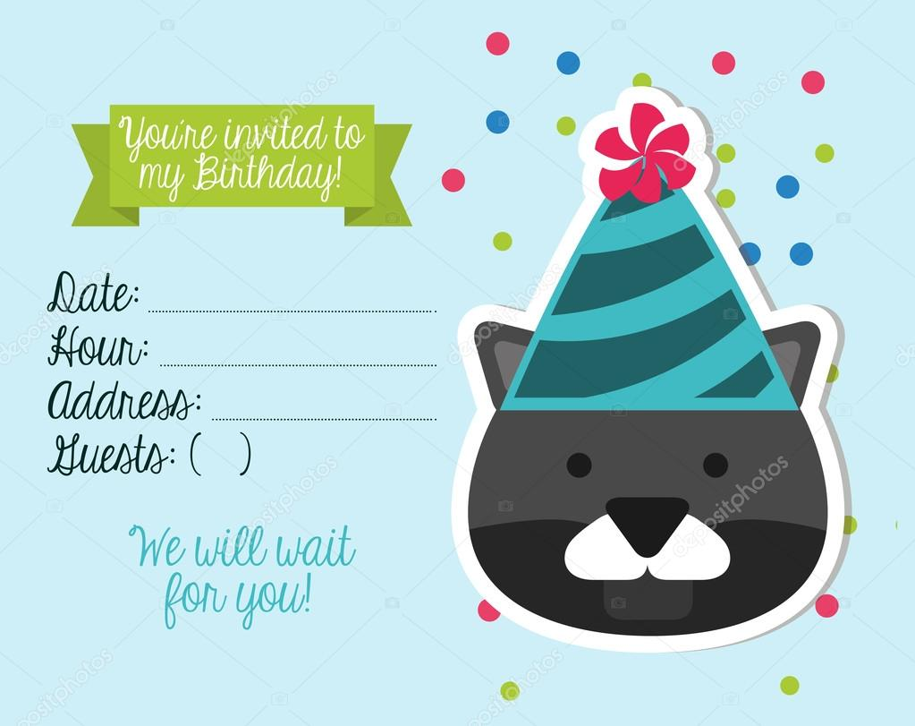 pozvánky k narozeninám Pozvánka k narozeninám — Stock Vektor © yupiramos #77335464 pozvánky k narozeninám