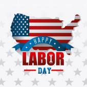 Fotografie Labor day card design.