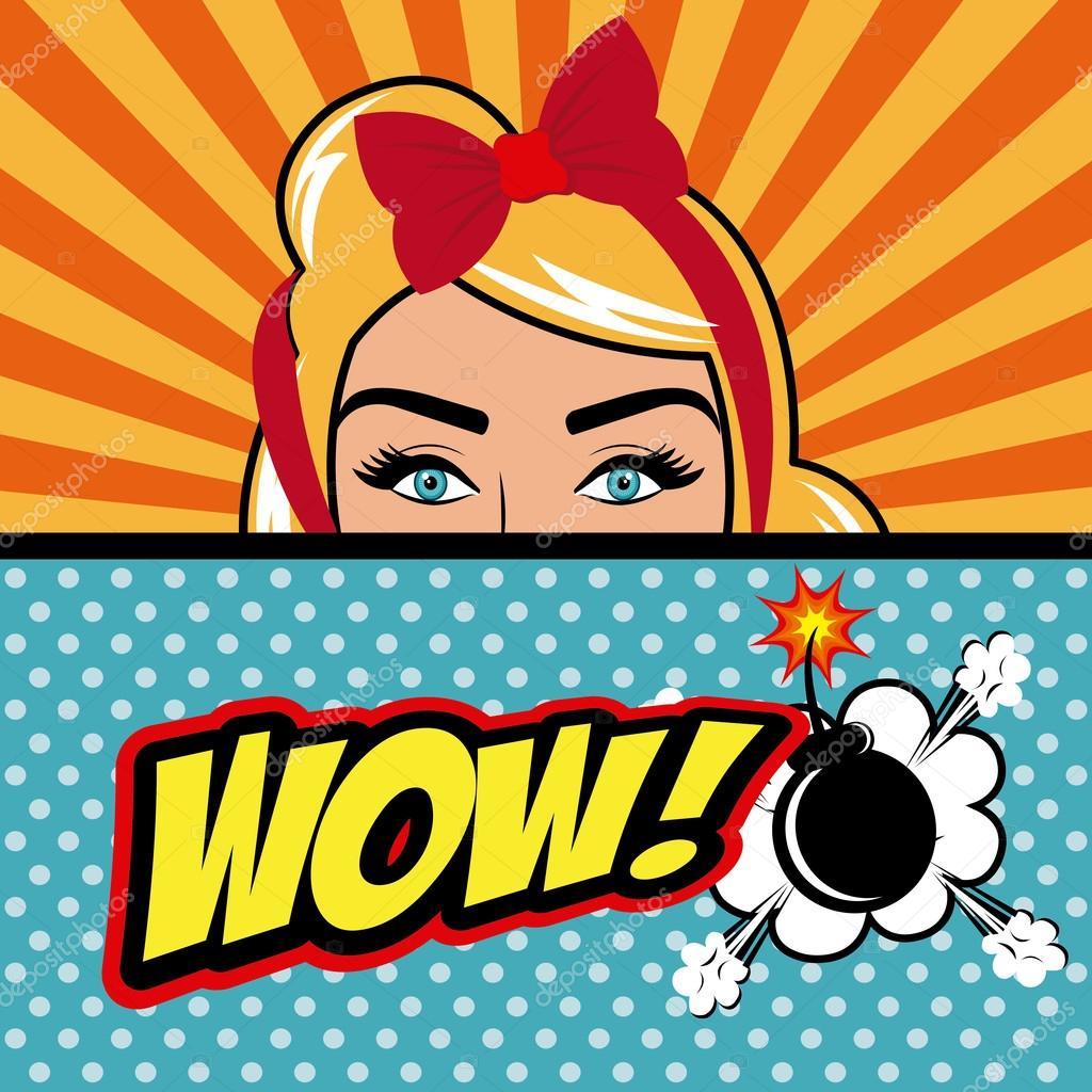 Pop Art Cartoon Graphics Stock Vector C Yupiramos 83185246