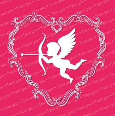 Love card with hearts and pink details design, vector illustration eps 10. clip art vector