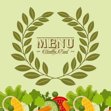 vegetarian menu design