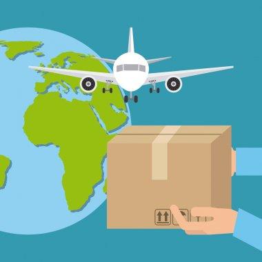 courier service worldwide design