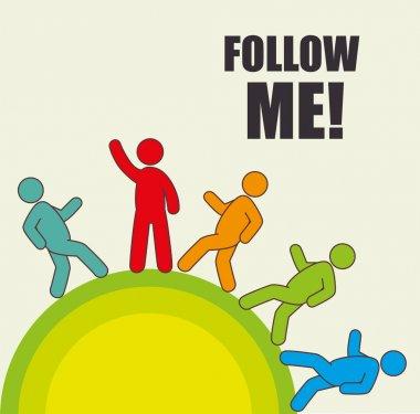Follow me social network theme